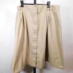 Liz Baker Sport Women Khaki Skirt 22W CL2446 1119